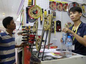 Linh kiện xe máy tại hội chợ Thái Lan