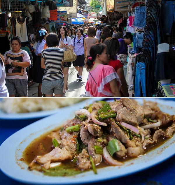 Chợ Wang Lang cũng là tụ điểm ẩm thực có tiếng ở Bangkok.