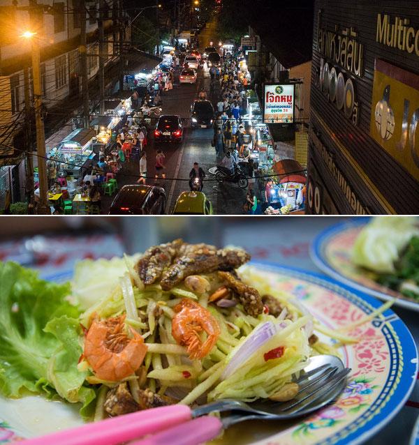 Món Yam mamuang nổi tiếng ở Sukhumvit 38.