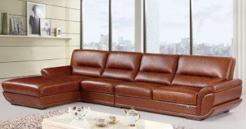 Sofa được làm từ da bò nguyên tấm