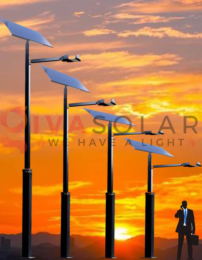 Nguyên lý hoạt động của đèn đường năng lượng mặt trời vào bình minh