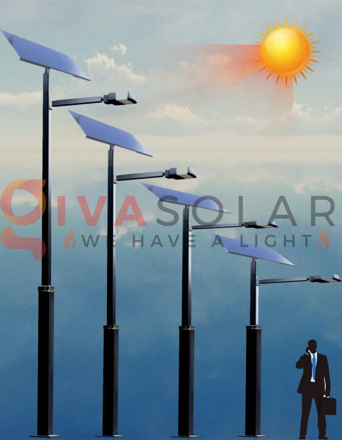 Nguyên lý hoạt động của đèn đường năng lượng mặt trời vào buổi sáng