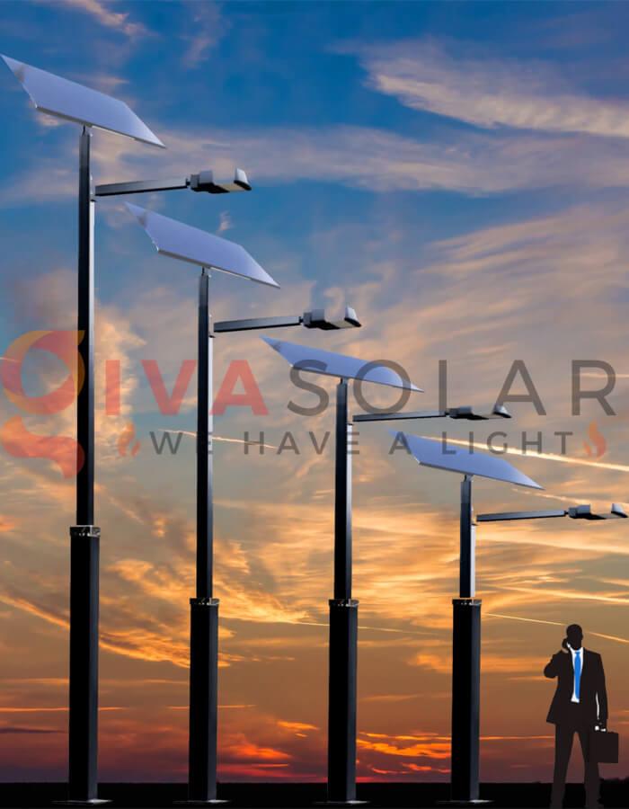 Nguyên lý hoạt động của đèn đường năng lượng mặt trời vào hoàng hôn